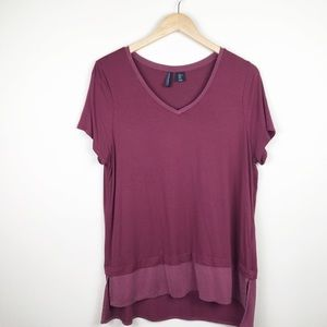 Cynthia Rowley Super Soft Short Sleeve 2 Layer Tee